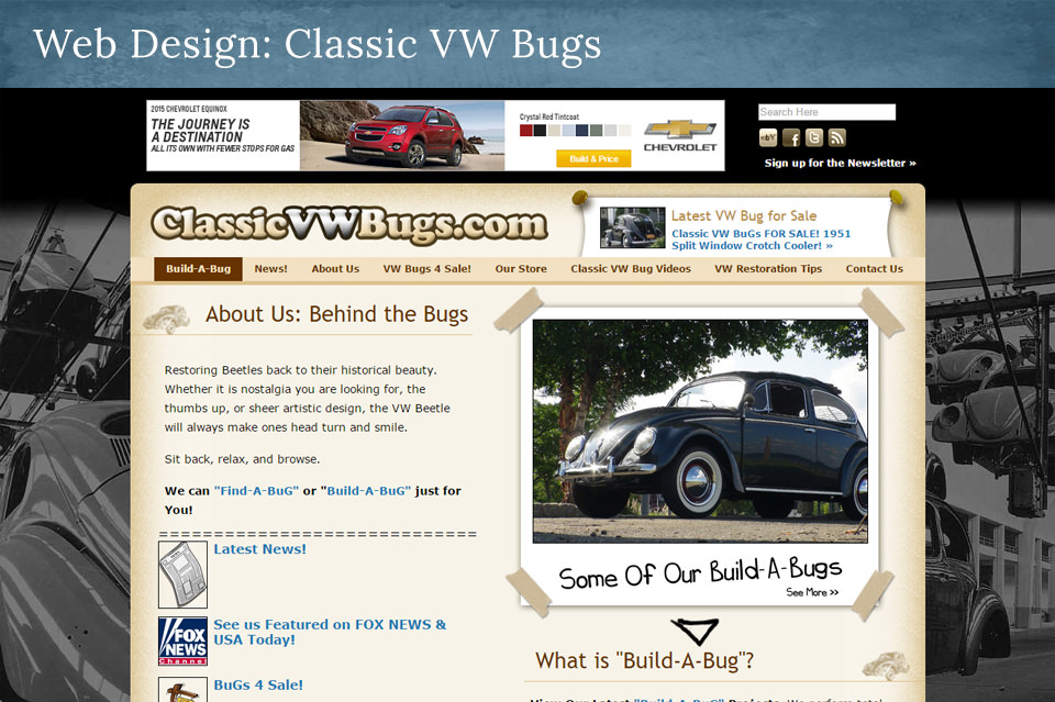 NJ Web Design: ClassicVWBugs.com