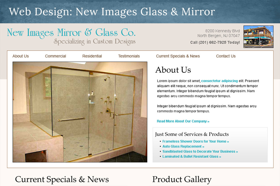 NJ Web Design: New Images Glass and Mirror Co.