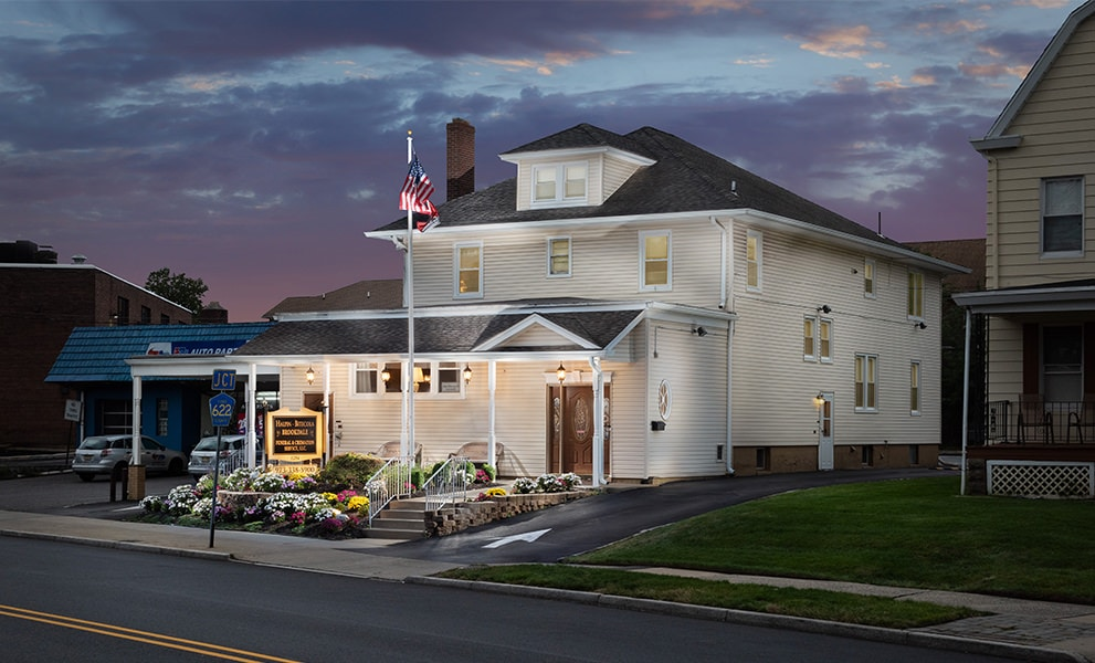 Light Painting Photography - Funeral Home Exterior - Bitecola