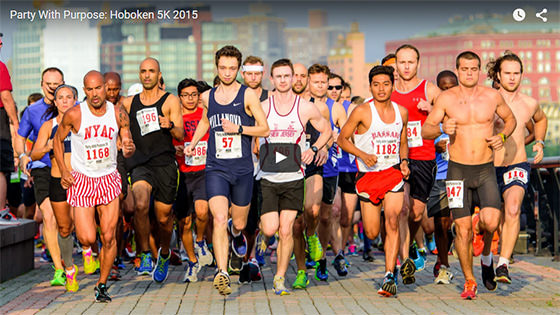 Party With Purpose - Annual Charity Event - 2015 Hoboken 5K Race Coverage
