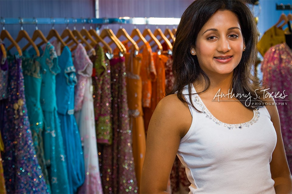 Shelley Chhabra Indian Bridal Boutique - Headshot to also show off clothing services