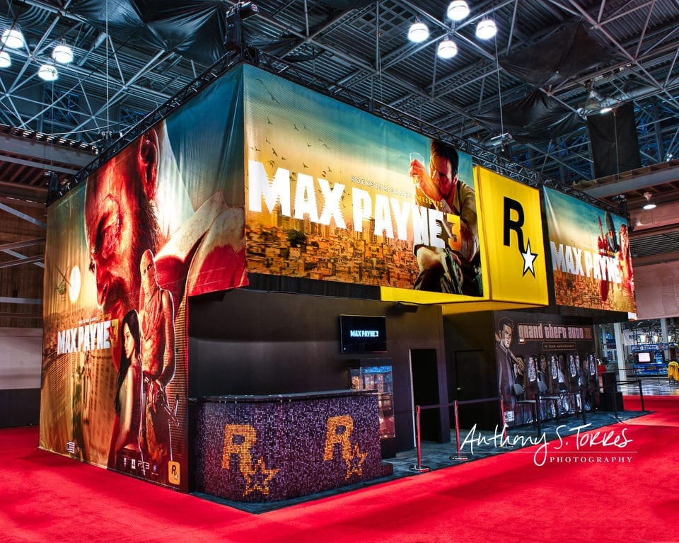Hired to show off MC2's booth design for tradeshows. Their client, Rockstar Games