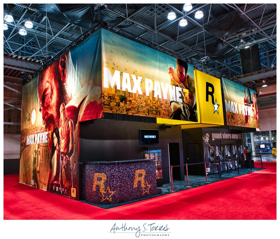 MC2 Booth Design for Rockstar Games at Comic-Con, Jacob Javits